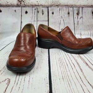 Ariat Brown Leather Slip On Clog